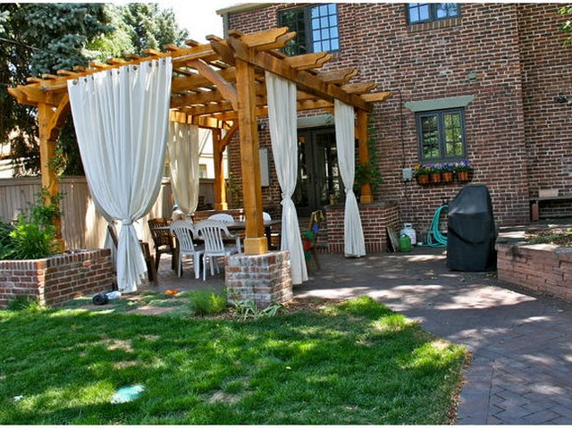 Amazing Pergola Curtains Designs