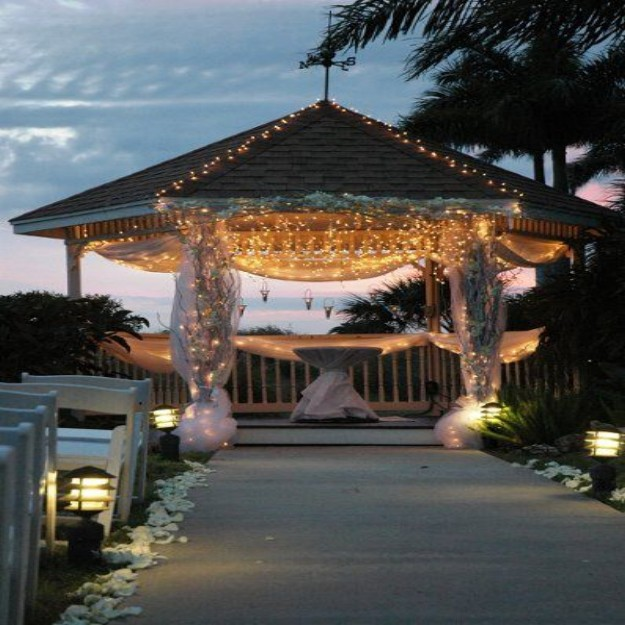 Pergola gazebos ideas designs and diy plans for Outdoor wedding gazebo decorating ideas