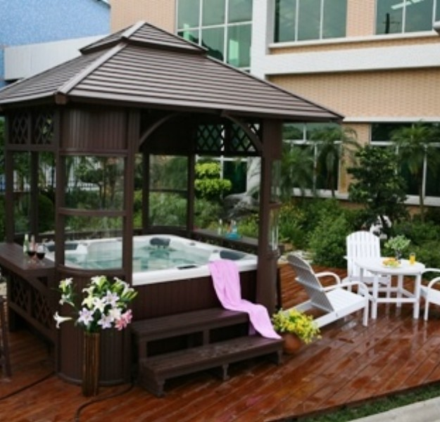 Gazebo Canopy Ideas : Gazebo Ideas for Hot Tubs  Pergolas  Gazebo