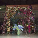 Knitted Flower Pergola Cute Project Idea