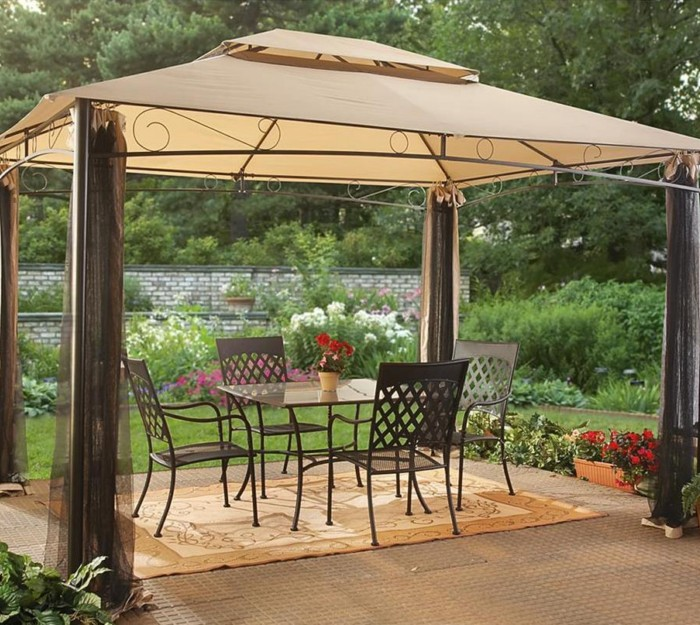 Backyard Pergola Canopy : Outdoor Canopy Pergola Gazebos  Pergolas  Gazebo