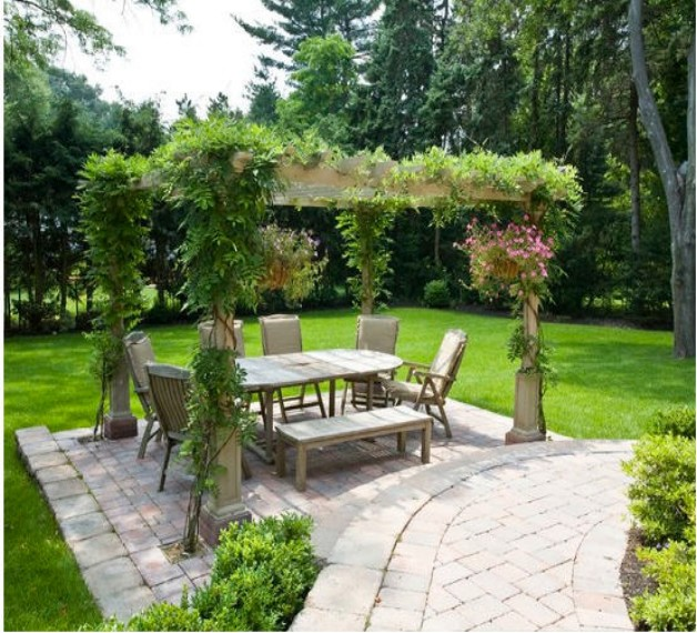 Pergola / Gazebos Ideas And Designs (Pergola Bench Seat Designs)