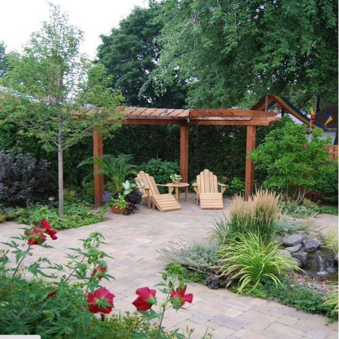 Do you have corner outdoor pergola benches pergolas for Pergola images houzz