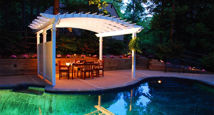 Unique Pool Pergolas To Take Rest In Spare Time