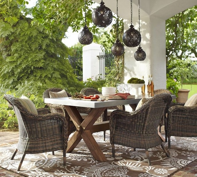Pergola Outdoor Dining Set Furniture