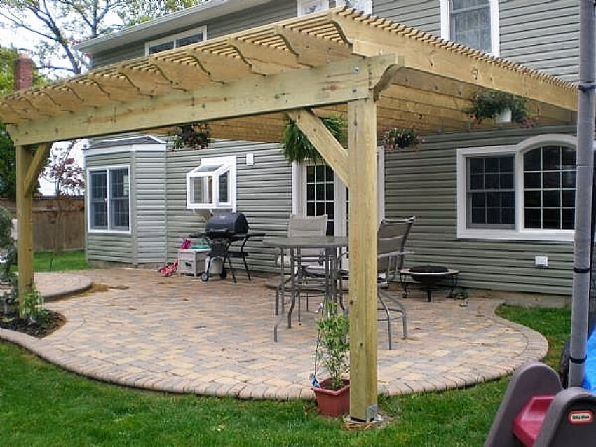 Attached Pergola Designs 10