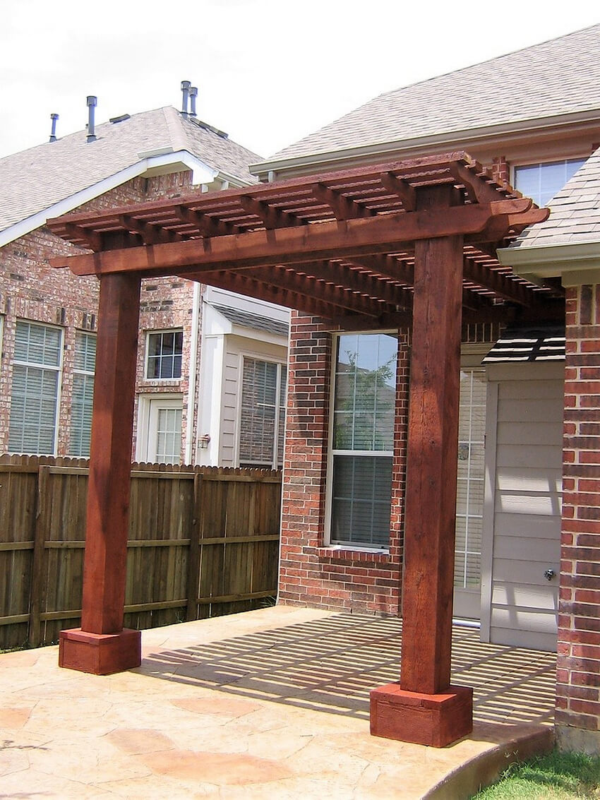 Attached Pergola Designs 14