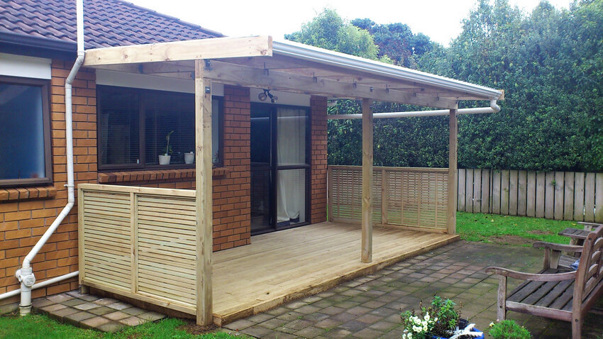 Attached Pergola Designs 17