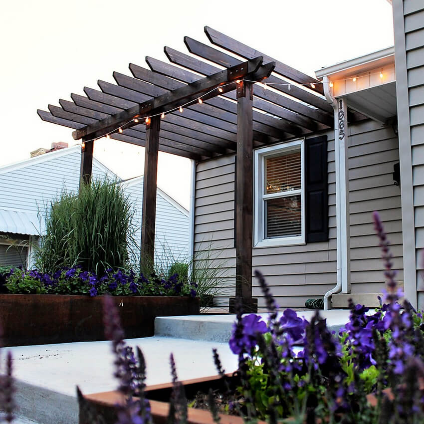 Attached Pergola Designs 19