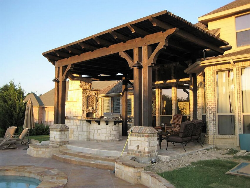 Attached Pergola Designs 4