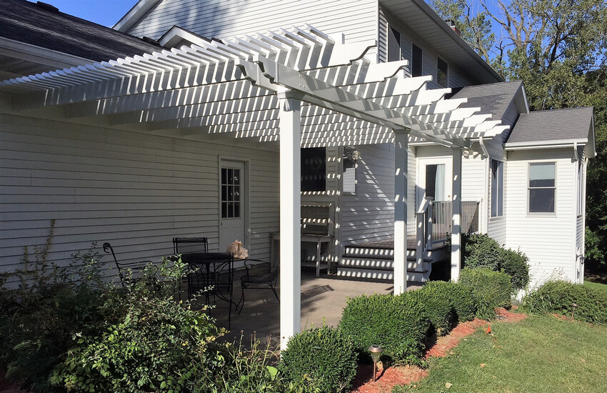 Attached Pergola Designs 5