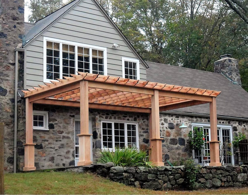 Attached Pergola Designs 6