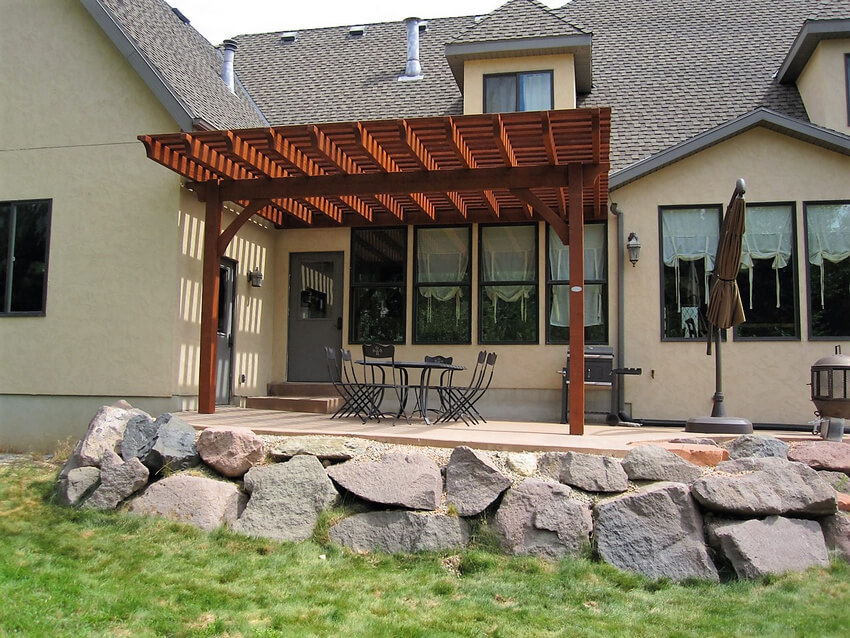 Attached Pergola Designs 9