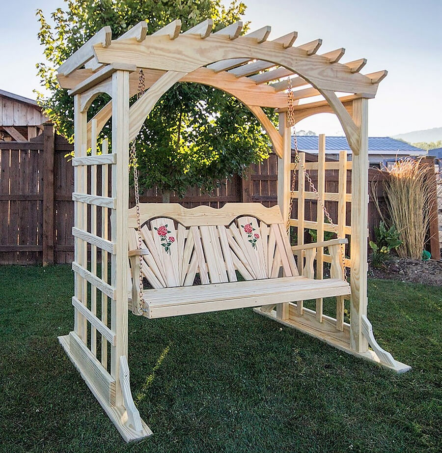 Patio Fun with Swing Pergola