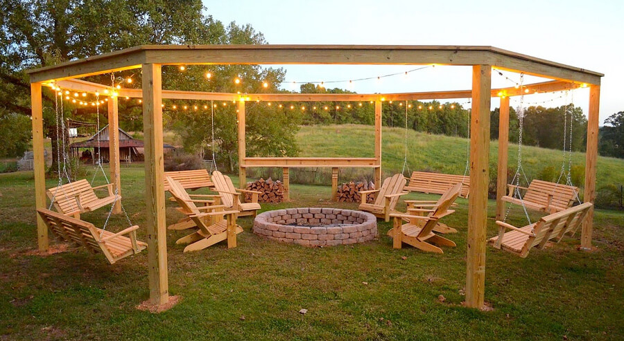 Swing Pergola Ideas 1