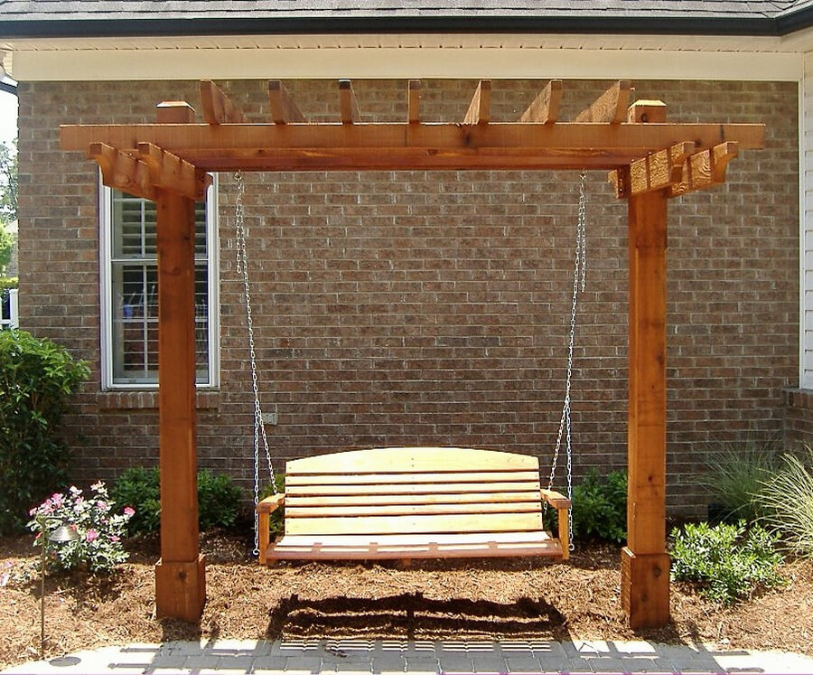 have you ever thought of adding swing to your pergola