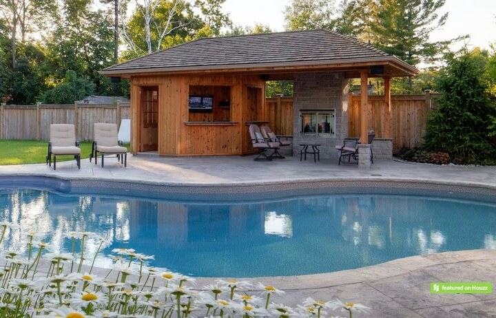 Beautiful gazebo designs for your swimming pool pergola for Pool home designs