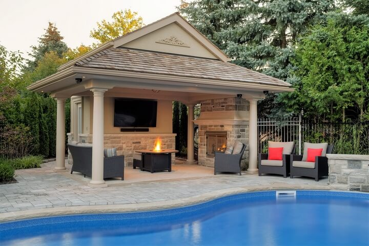 swimming pool gazebo ideas