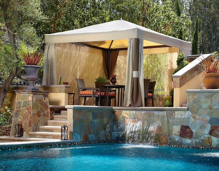 swimming pool gazebo patio sitting