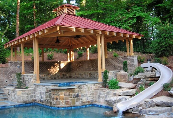 swimming pool gazebo plans