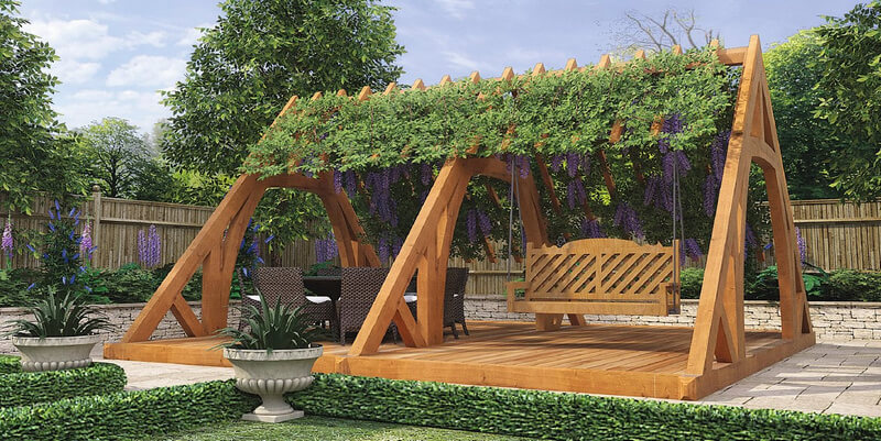 patio garden swing arbor