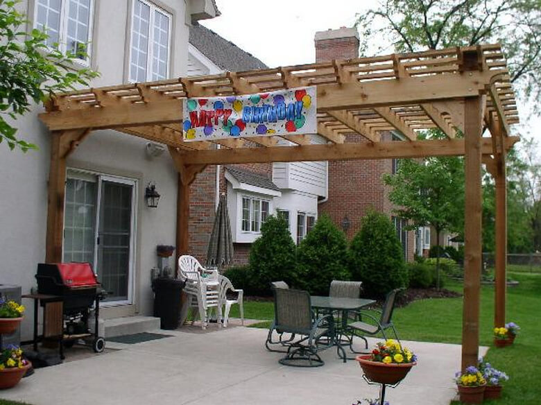 Attached Pergola Ideas 11
