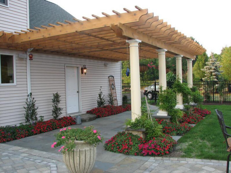 Attached Pergola Ideas 12