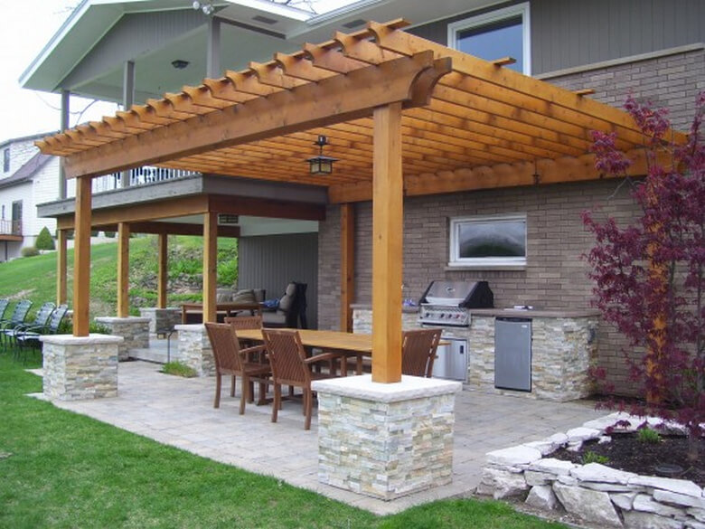 Attached Pergola Ideas 13