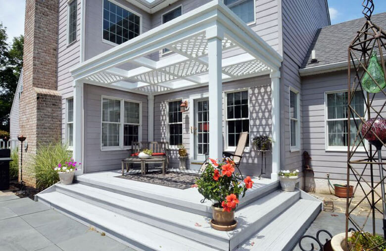 Attached Pergola Ideas 14