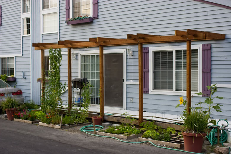 Attached Pergola Ideas 2
