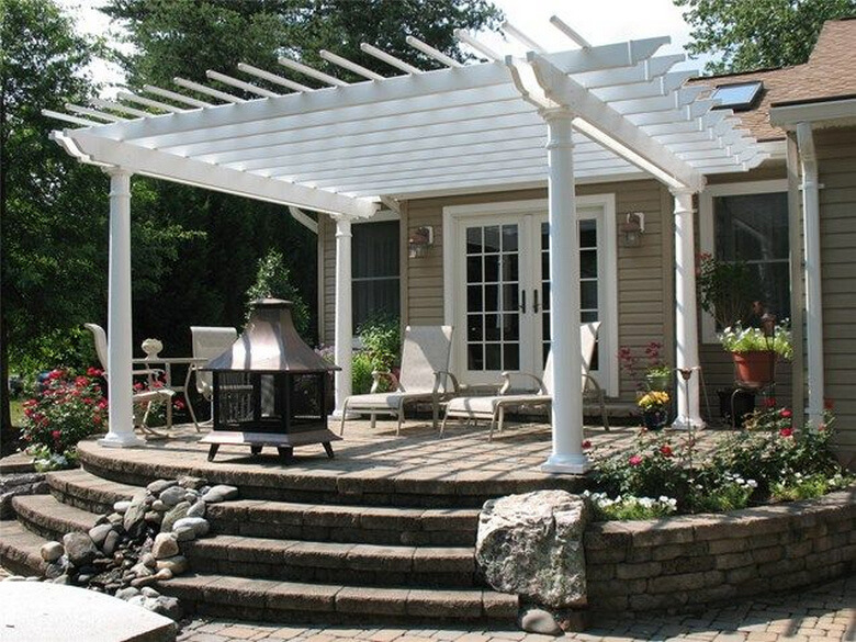 Attached Pergola Ideas 3