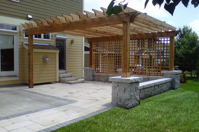 Attached Pergola Ideas 4