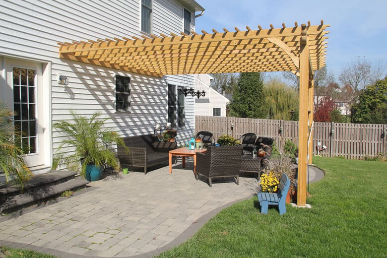 Attached Pergola Ideas 5