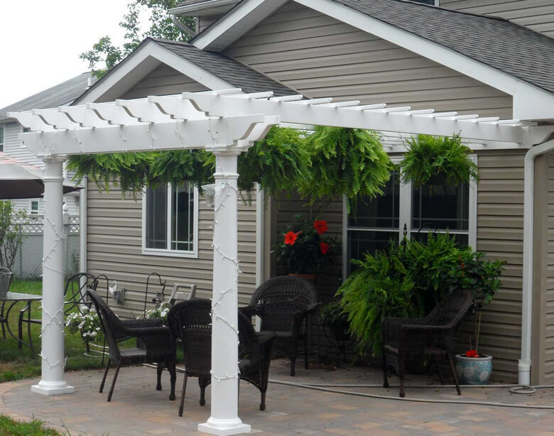 Attached Pergola Ideas 7