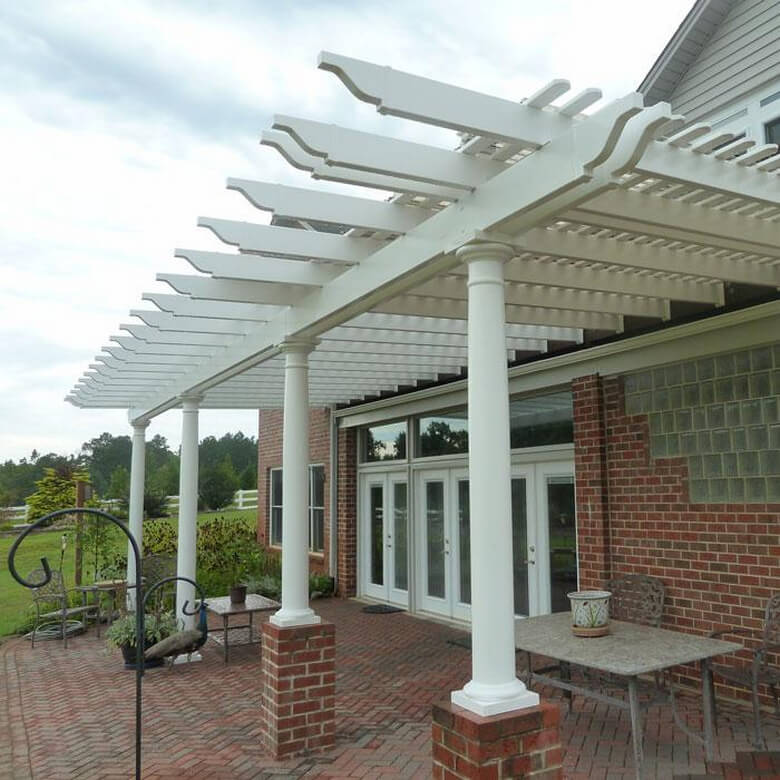 Attached Pergola Ideas 8