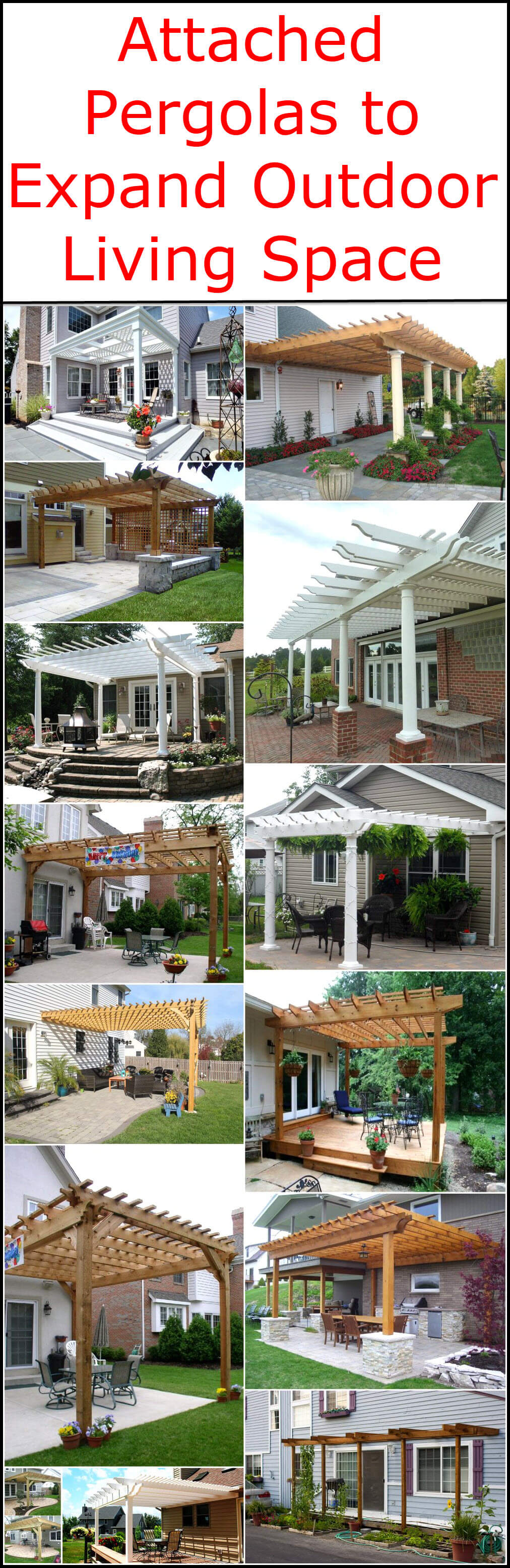 Attached Pergolas to Expand Outdoor Living Space