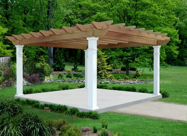 16 x 16 Pergola Designs and Ideas