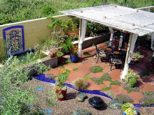 Pergola Flooring Ideas 2