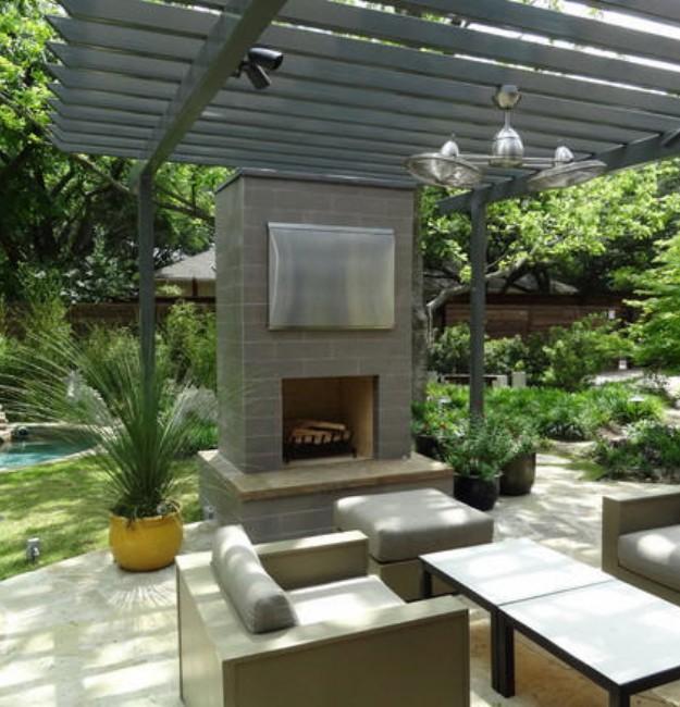 Backyard Gazebo with Fireplace 6