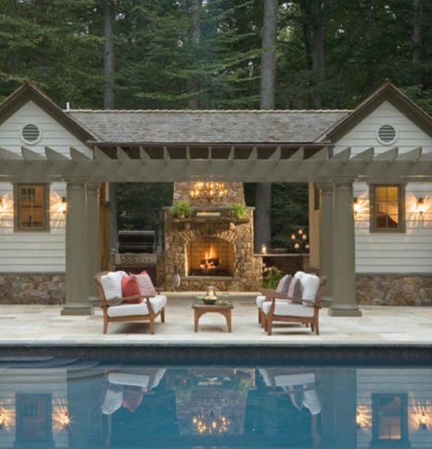 Backyard Gazebo with Fireplace 7