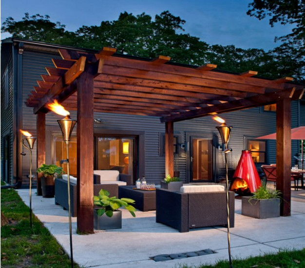 contemporary pergola kits ideas pergola gazebos. Black Bedroom Furniture Sets. Home Design Ideas