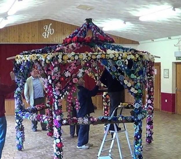 Knitted Flower Pergola 5