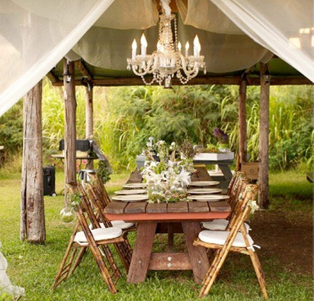 Outdoor gazebo lighting chandelier pergola gazebos for Outdoor wedding gazebo decorating ideas