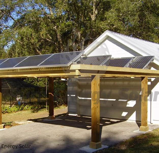 Outdoor Solar Powered Pergola 2