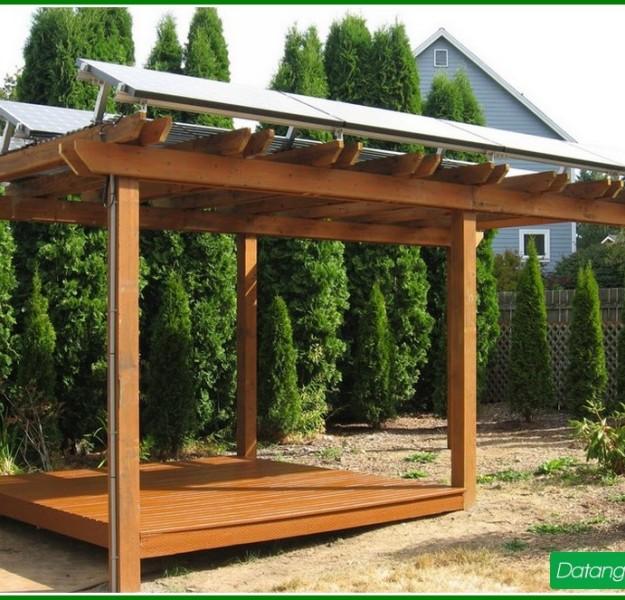 Outdoor Solar Powered Pergola 5