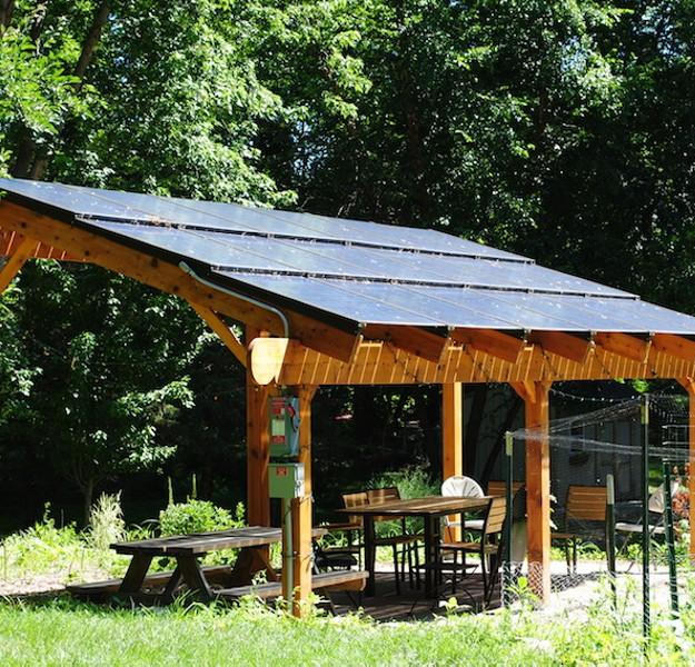 Outdoor Solar Powered Pergola 6