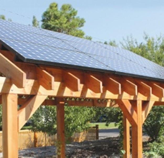 Outdoor Solar Powered Pergola