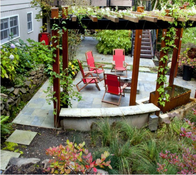 Pergola Garden Furniture Ideas 7