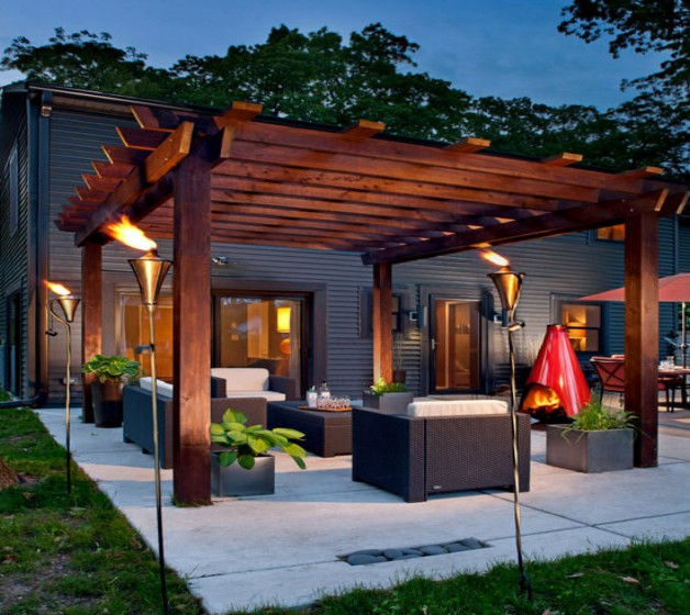 Pergola Garden Furniture Ideas