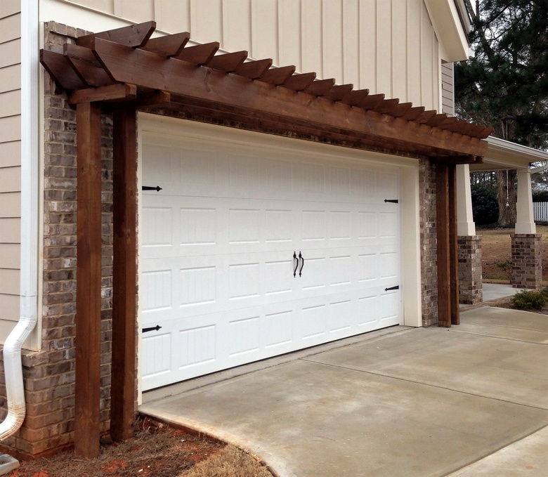 Pergola Over Garage An Excellent Option on pergola designs attached to house